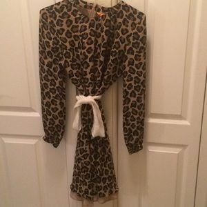 100% Silk 🐆 Print  Dress by Tory Burch!